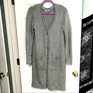 Kenneth Cole Heavy Knit Button-Up Cardigan L